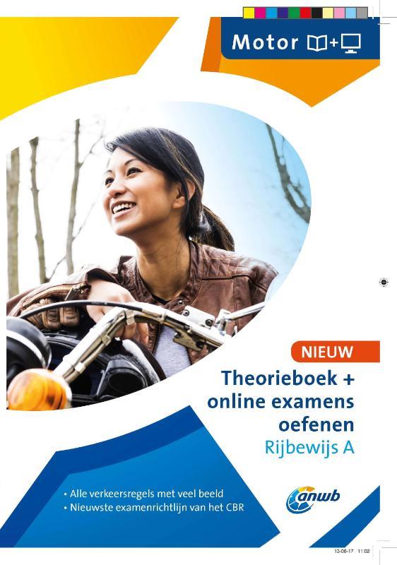 Theorieboek+online examens oefenen Rijbwijs A - Motor