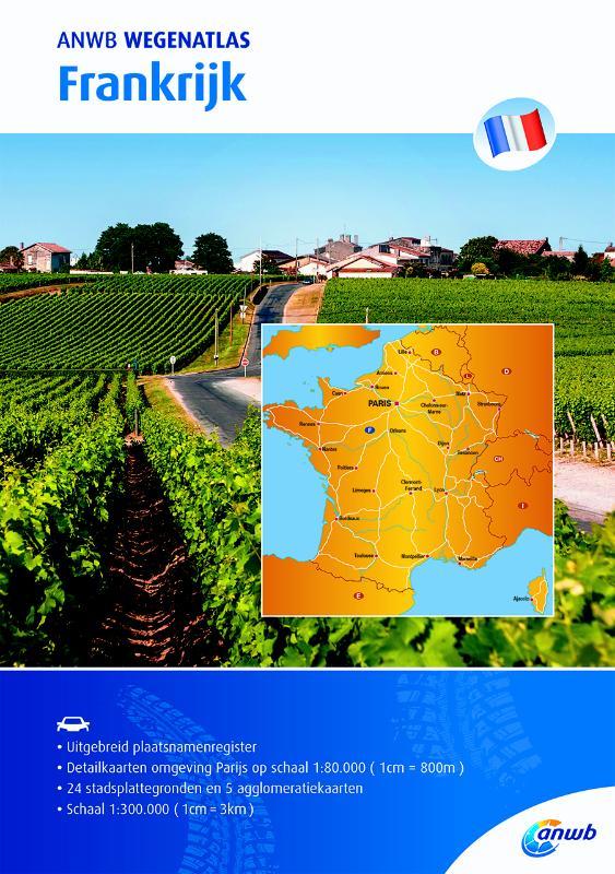 Wegenatlas Frankrijk