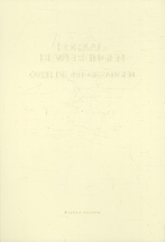 Koraalbewerkingen CREME  491 GEZANGEN - 5711-