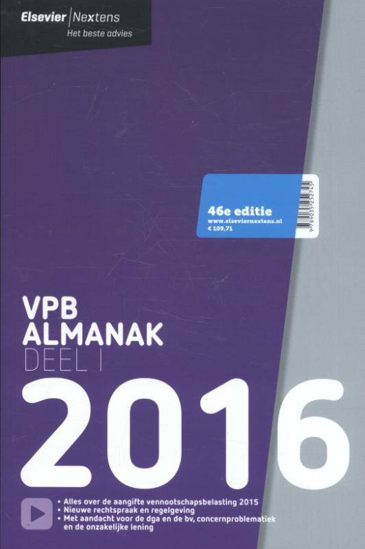 Elsevier Vpb Almanak - deel 1