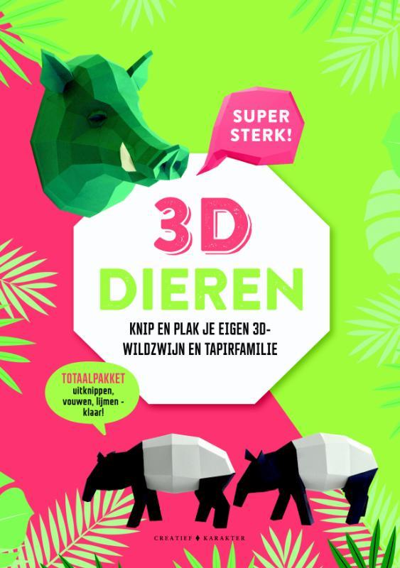 3D-dieren - wildzwijn en tapirfamilie