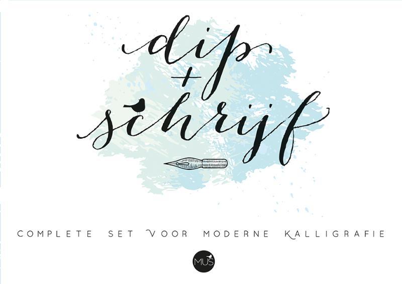 Dip & schrijf kalligrafieset
