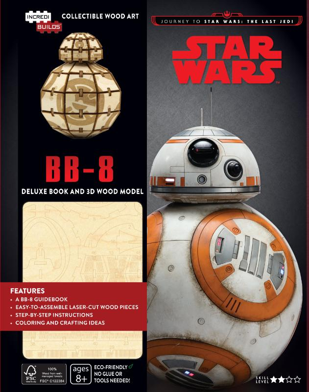 BB-8 Deluxe Boek met houten model BB-8, boek met houten bouwplaat, journey to Star Wars, The Last Jedi
