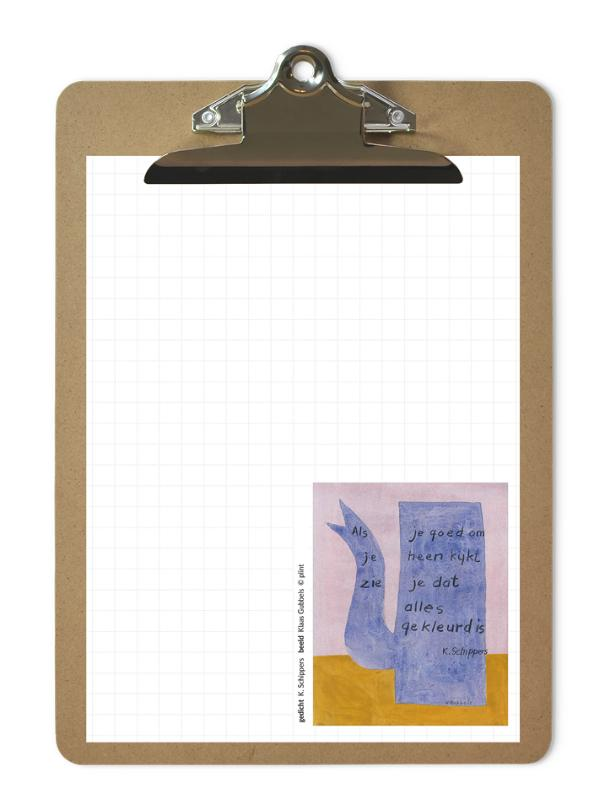 Plint -Poëzieblok met klembord