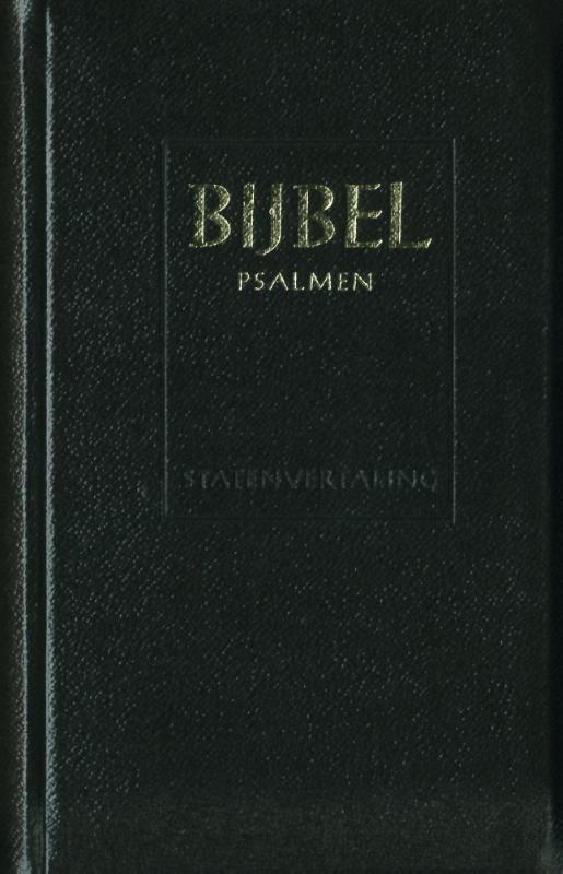 Major Statenvertaling Psalmen 12 gezangen zwart leer goudsnee rits index ritmisch