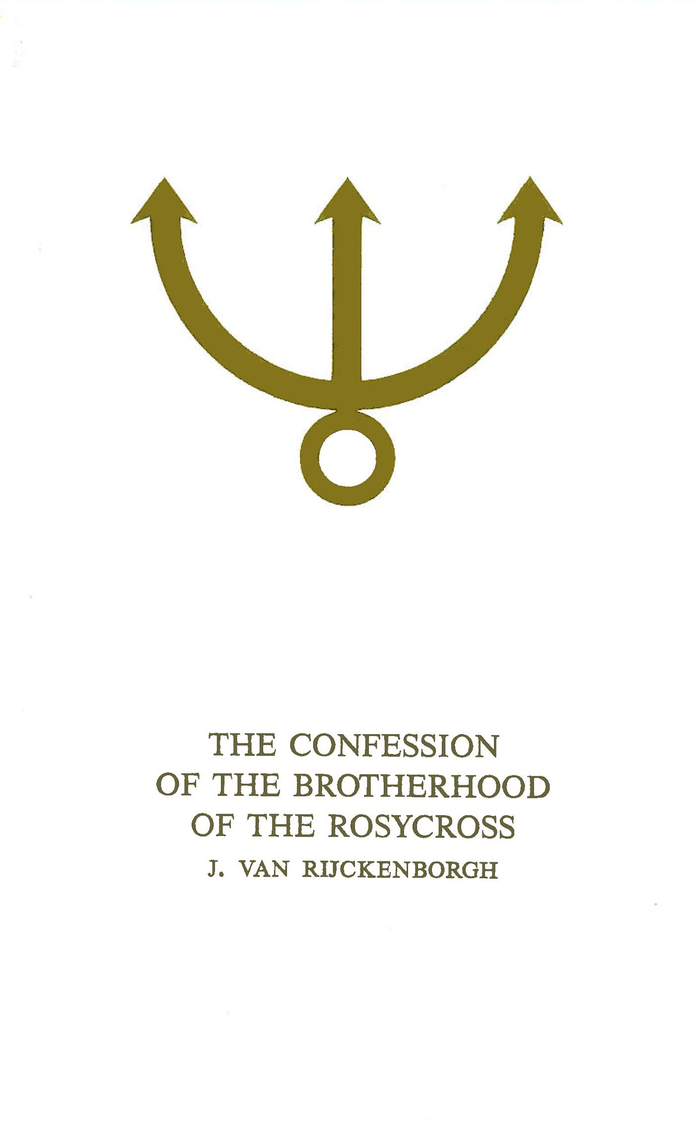 Confession of the Brotherhood of the Rosycross