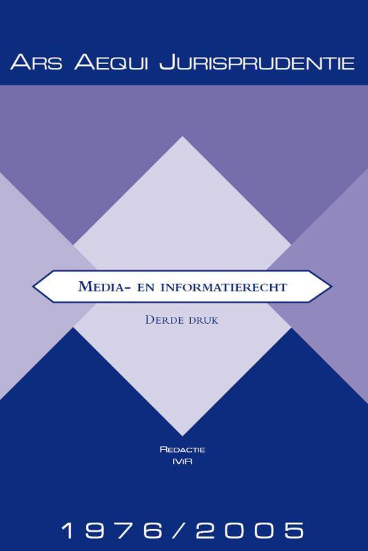 Ars Aequi Jurisprudentie Jurisprudentie Media- & informatierecht 1976-2005