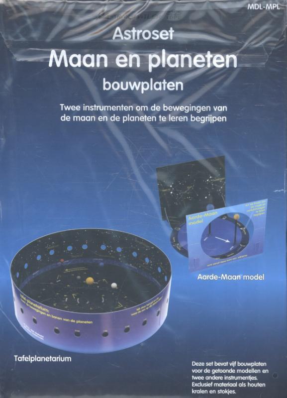 Astroset maan en planeten (bouwplaten)