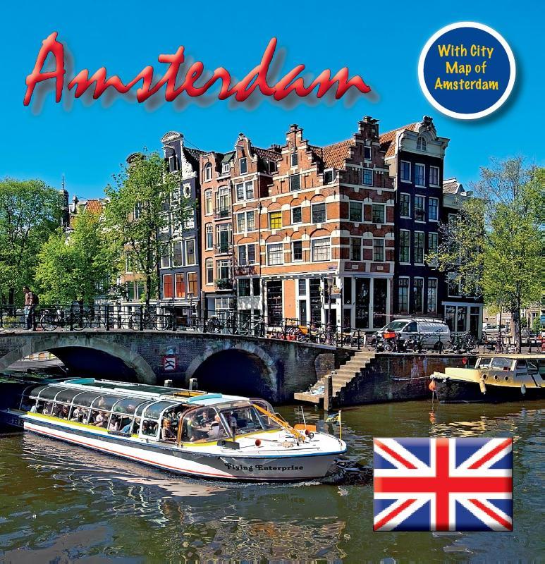 Amsterdam 15x15 cm Engelse Editie incl. Stadsplattegrond