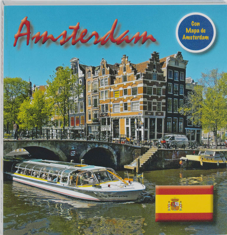 Amsterdam 15x15 cm Spaanse Editie incl. Stadsplattegrond
