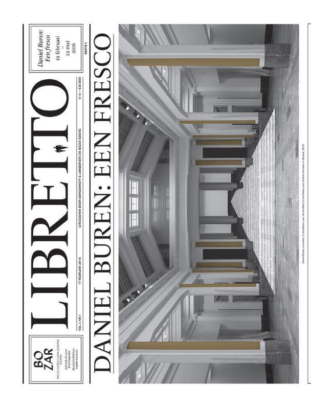 Libretto. Daniel Buren. Een fresco