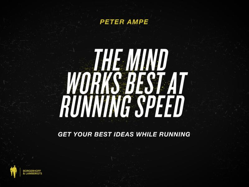 The mind works best at 10km/h