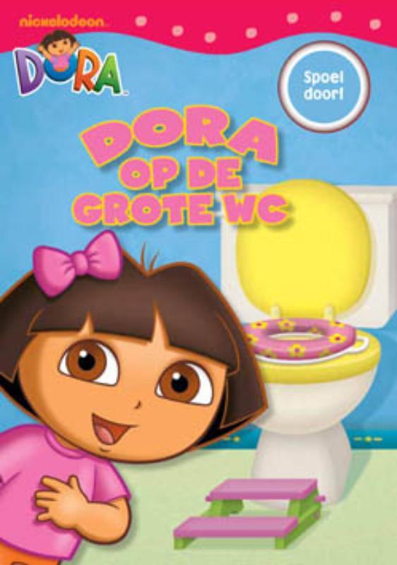 Dora op de grote wc