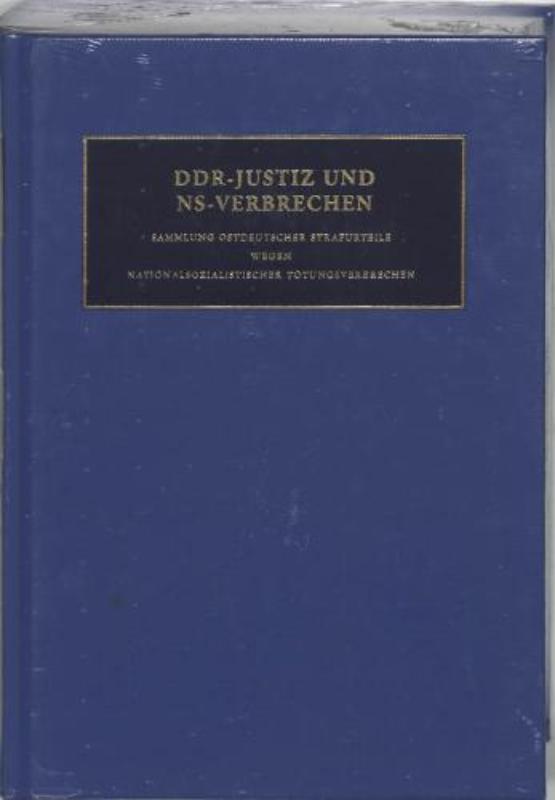 DDR-Justiz und NS-Verbrechen XIV