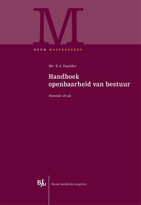 Handboek openbaarheid van bestuur (Daalder)