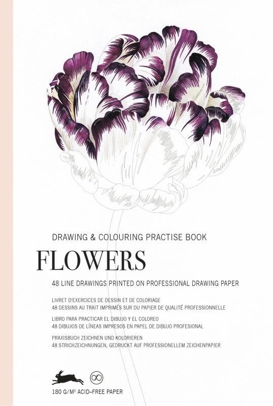 Flowers - Drawing & Colouring Practise Book