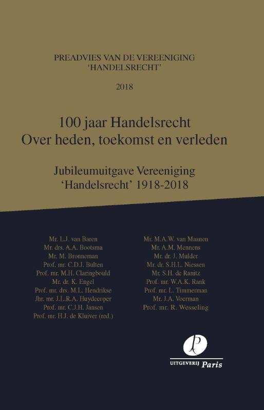 100 jaar Handelsrecht