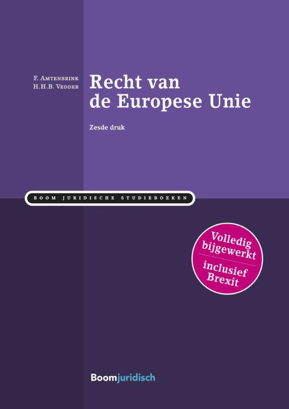 Recht van de Europese Unie (Amtenbrink)