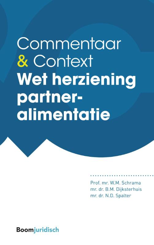 Commentaar & Context: Wet herziening partneralimentatie