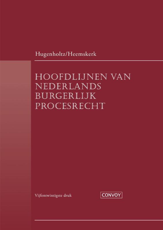 Hoofdlijnen van Nederlands Burgerlijk Procesrecht DR25