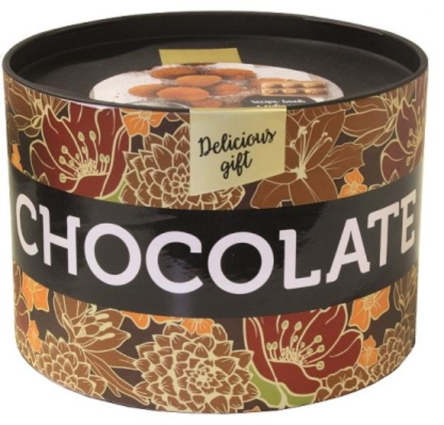 Delicious Gifts Chocolate - Trommeltje met receptenwaaier en bonbon vormpjes