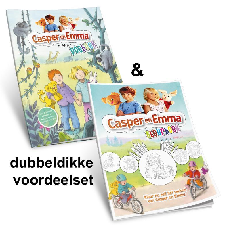 Casper en Emma PAKKET doeboek + kleurboek
