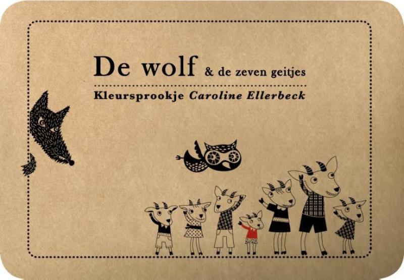 Kleursprookjes De wolf en de zeven geitjes (3 stuks)