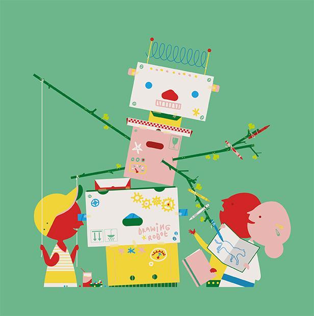 Poesiealbum tekenrobot