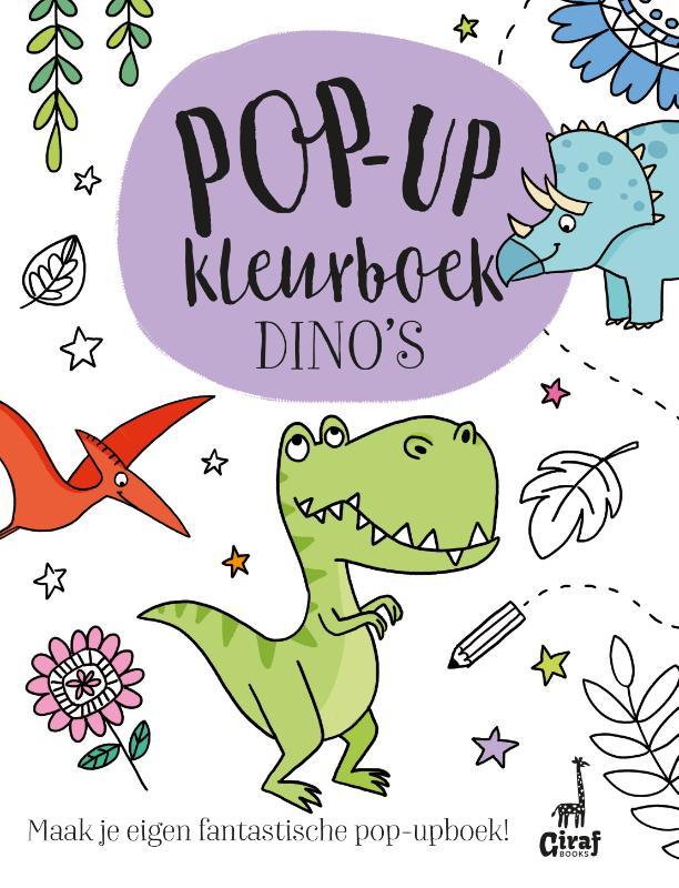 Pop-up kleurboek Dino's