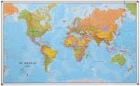 Wereldkaart Politiek Nederlandstalig Maps International - Magneetbord