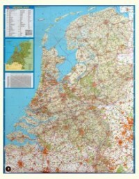 Wandkaart Nederland Falkplan - Magneetbord