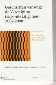Geschriften vanwege de Vereniging Corporate Litigation 2007-2008