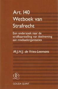 Art. 140 Wetboek van Strafrecht. Diss.