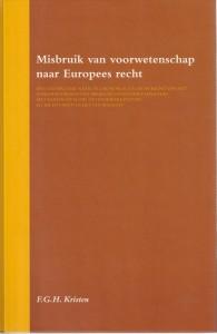 Misbruik van voorwetenschap naar Europees recht