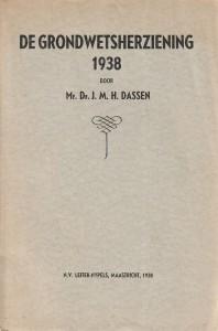 De grondwetsherziening 1938. Diss.