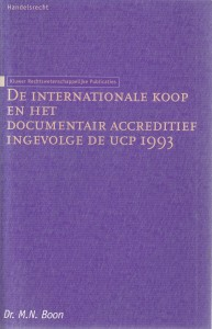 De internationale koop en het documentair accreditief ingevolge de UCP 1993