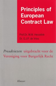 Principles of European Contract Law