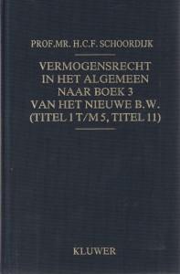 Vermogensrecht in het algemeen naar Boek 3 van het nieuwe B.W. (titel 1 t/m 5, titel 11)