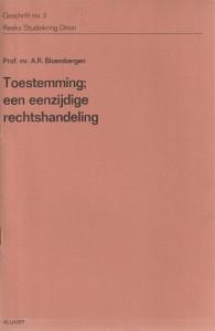 Toestemming; een eenzijdige rechtshandeling - Rede 1971