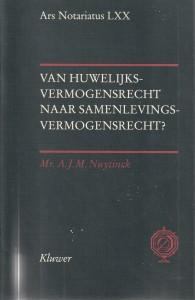 Van huwelijksvermogensrecht naar samenlevingsvermogensrecht? - Rede 1996