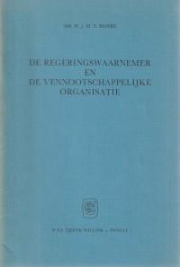 De regeringswaarnemer en de vennootschappelijke organisatie - Rede 1983