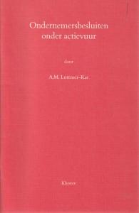 Ondernemersbesluiten onder actievuur - Rede 1990