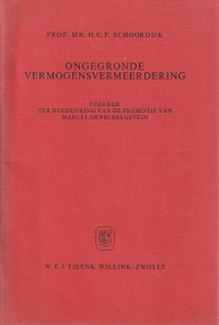 Ongegronde vermogensvermeerdering - Rede 1977