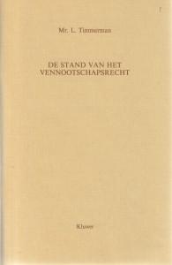 De stand van het vennootschapsrecht - Rede 1990