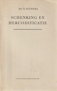 Schenking en hercodificatie - Rede 1963