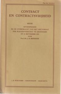Contract en contractsvrijheid - Rede 1953