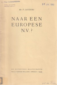 Naar een Europese N.V.? - Rede 1959