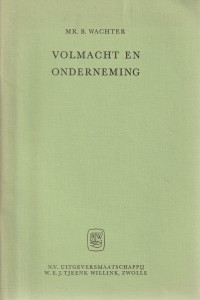 Volmacht en onderneming - Rede 1972
