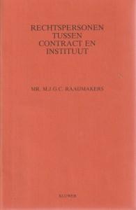 Rechtspersonen tussen contract en instituut - Rede 1987