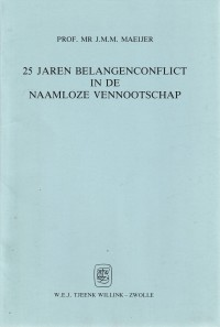 25 jaren belangenconflict in de naamloze vennootschap - Rede 1988